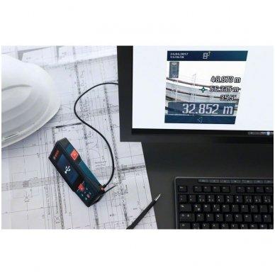 Bosch GLM 120 C Bluetooth atstumų matuoklis + stovas BT 150 3