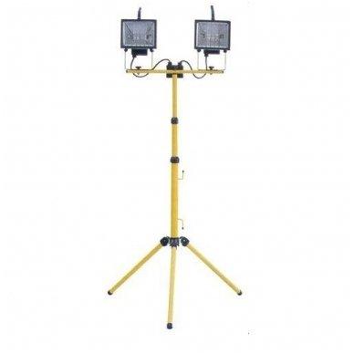 ACUMA Halogeninis dvigubas prožektorius ant stovo 2 x 400W (0207-1)