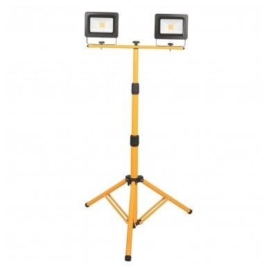 ACUMA LED prožektorius dvigubas  2x30W ant stovo (345395)