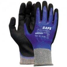 Apsauginės pirštinės M-Safe Full-Nitrile Cut 5 atsparumas pjūviams 5/D lygis, 14-705, nailonas/lycra/HPPE/stiklo pluoštas, pilna nitrilo danga, dydis 9/L