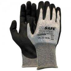 Apsauginės pirštinės M-Safe Palm-Nitrile Cut 5 atsparumas pjūviams 5/D lygis, 14-705, nailonas/lycra/HPPE/stiklo pluoštas., dydis 8/M
