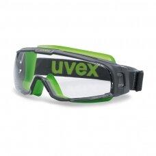 Apsauginiai akiniai Uvex U-sonic, skaidri panoraminė linzė, supravision excellence (nesibraižantys ir nerasojantys) padengimas, guminė reguliuojama juostelė.