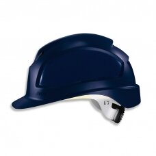 Apsauginis šalmas Uvex Pheos B-WR, mėlynas, ratukinis reguliatorius, priekinė/galinė ventiliacija