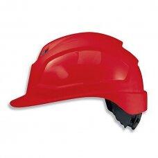 Apsauginis šalmas Uvex Pheos IES, raudonas 51-61cm, akinių adaperis, ratukinis reguliatorius. Maksimaliam komfortui.