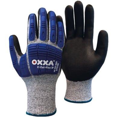Apsauginės pirštinės OXXA X-Cut-Flex IP 51-705, atsparumas pjūviams D, smūgių apsauga, nitrilo putų delno padengimas, dydis 11/XXL