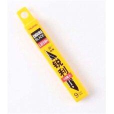 Atsarginės 9mm geležtės su 30* kampu, 10vnt, 8 segmentai Tajima Endura