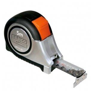 Bahco MTS 5mx25mm nerūdijančio plieno gumuota magnetinė ruletė