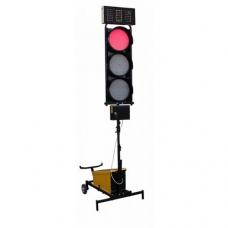 Belaidis dviejų šviesoforų su trim žibintais ir laikrodžiu komplektas