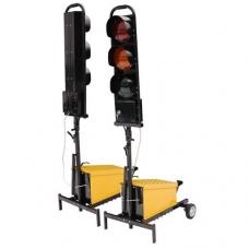 Belaidis dviejų šviesoforų su trim žibintais komplektas: