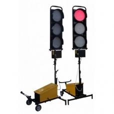 Belaidis dviejų šviesoforų su trim žibintais komplektas
