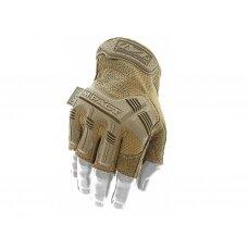 Bepirštės Pirštinės Mechanix M-Pact® FINGERLESS Coyote 11/XL dydis. Velcro, TrekDry®, dirbtinė oda, delno, krumplių, pirštų apsauga