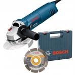 BOSCH GWS 1000 kampinis šlifuoklis + deimantinis diskas 125mm