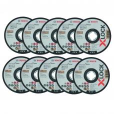 Bosch 125x1x22,23 mm Abrazyviniai pjovimo diskai X-LOCK Standard for Inox 10 vnt. pakuotė
