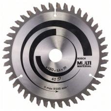 Bosch Diskinis pjūklas 160x20x2,4 T42 Multi Material 2 608 640 503
