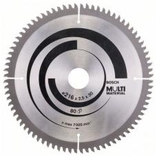 Bosch Diskinis pjūklas 216x30x2,5 T80 Multi Material 2608640447