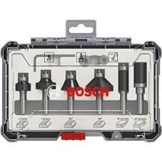 Bosch Frezų rinkinys Bosch Trim&Edging; 8 mm; 6 dalys 2607017469