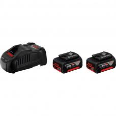 Bosch GBA 18 V-Li; 18 V; 6,0 Ah 2 vnt. akumuliatoriai + įkroviklis GAL1880CV (1600A00B8L)