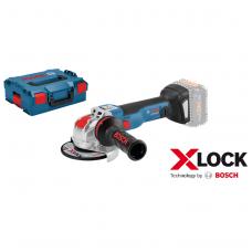 Bosch GWX 18V-10 C Akumuliatorinis kampinis šlifuoklis su X-LOCK (18V Li-ion Be akumuliatorių ir kroviklio)