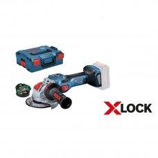 BOSCH GWX 18V-15 SC Akumuliatorinis kampinis šlifuoklis BITURBO su X-LOCK