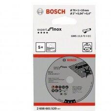 BOSCH PJOVIMO DISKAI BOSCH 76X10X1 EXPERT FOR INOX (5VNT) 2608601520
