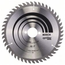 Bosch pjūklo diskas 190x30x2,0 T48 Optiline Wood 2608641186