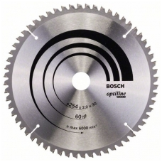 Bosch pjūklo diskas 254x30x2,0 T60 Optiline Wood 2608640436