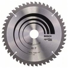 Bosch pjūklo diskas 216x30x2,0 T48 Optiline Wood 2608640432