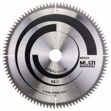 Bosch pjūklo diskas 254x30x3,2 T96 Multi Material 2608640451