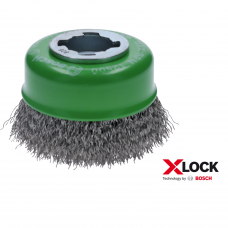 "BOSCH ""X-LOCK Clean for Inox"" taurės formos šepečiai, lenkta viela"