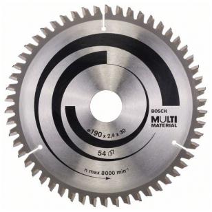 Bosch Diskinis pjūklas 190x30x2,4 T54 Multi Material 2608640509
