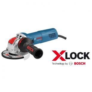 BOSCH  GWX 9-125 S Kampinis šlifuoklis su X-LOCK
