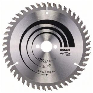 Bosch pjūklo diskas 160x20x1,8x48T Optiline Wood 2 608 641 172