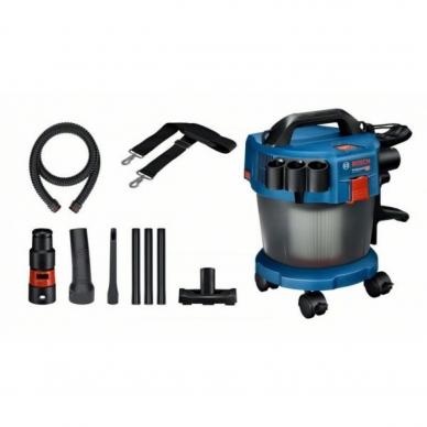 Bosch GAS 18v-10 L akumuliatorinis dulkių siurblys (18V, be akumuliatorių ir kroviklio)