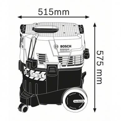 BOSCH GAS 35 L SFC+ Skysčių ir sausų dulkių siurblys 06019C3000 2