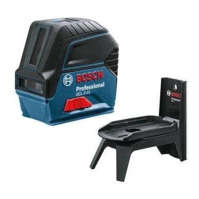 "Bosch GCL 2-15 Lazerinis nivelyras + Sukamasis laikiklis ""RM 1 Professional"""
