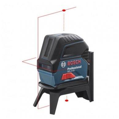 "Bosch GCL 2-15 Lazerinis nivelyras + Sukamasis laikiklis ""RM 1 Professional"" 2"