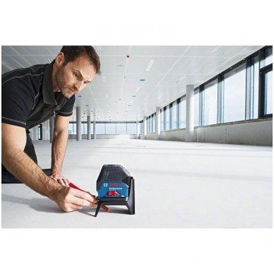 "Bosch GCL 2-15 Lazerinis nivelyras + Sukamasis laikiklis ""RM 1 Professional"" 3"