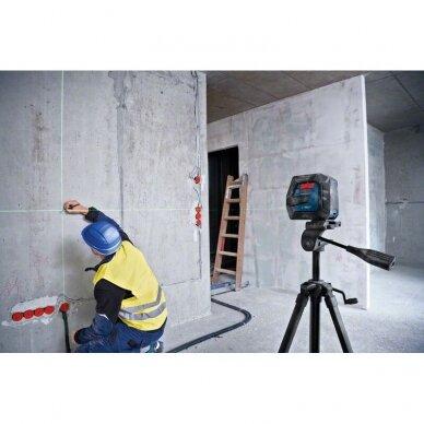 BOSCH GLL 2-15 G (Žalias) Professional Linijinis lazerinis nivelyras + Stovas BT150 3