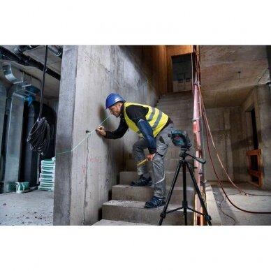 BOSCH GLL 2-15 G (Žalias) Professional Linijinis lazerinis nivelyras + Stovas BT150 2