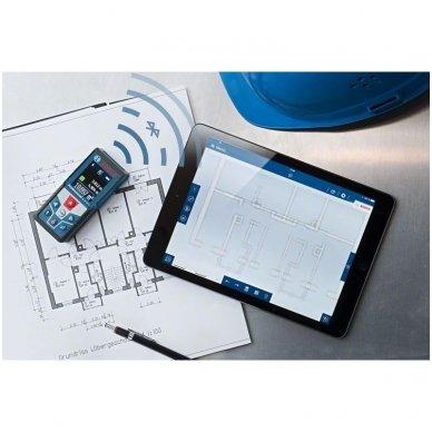 Bosch GLM 50 C Lazerinis atstumų matuoklis su Bluetooth funkcija 4