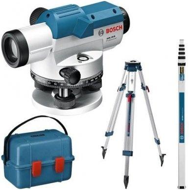 Bosch GOL 26D Optinis nivelyras  + stovas BT 160 + liniuotė GR 500