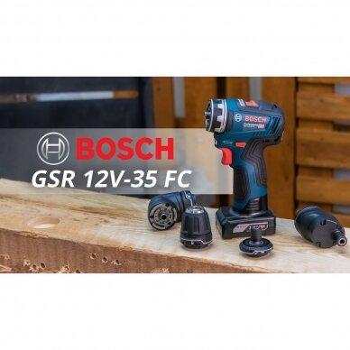 Bosch GSR 12V-35 FC Professional Akumuliatorinis gręžtuvas-suktuvas 2