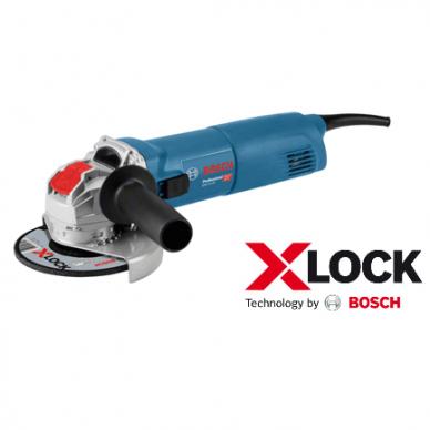 BOSCH GWX 10-125 Kampinis šlifuoklis su X-LOCK