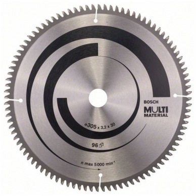 Bosch pjūklo diskas 305x30x3,2 T96 Multi Material 2608640453