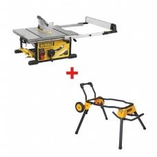 DeWALT DWE7492  pjovimo staklės + DWE74911 stalinių pjovimo staklių stovas