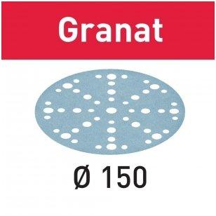 Festool Šlifavimo popierius STF D150/48 GR/50 Granat ( 50 vnt)