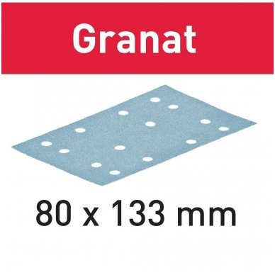 Festoo Šlifavimo popierius STF 80X133  Granat ( 100vnt )