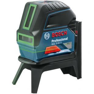 "BOSCH GCL 2-15 G  lazererinis nivelyras + Sukamasis laikiklis ""RM 1 Professional"""