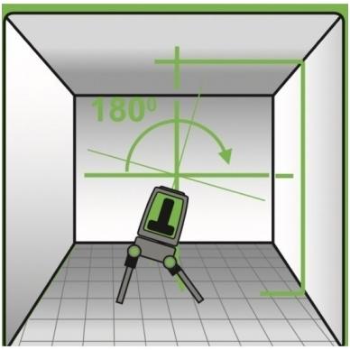 KAPRO Lazerinis nivelyras žaliu spinduliu PROLASER 873G 2