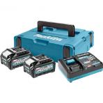 Makita 2 x baterijų BL4040 ir korviklio DC40RA komplektas (191J97-1 XGT)